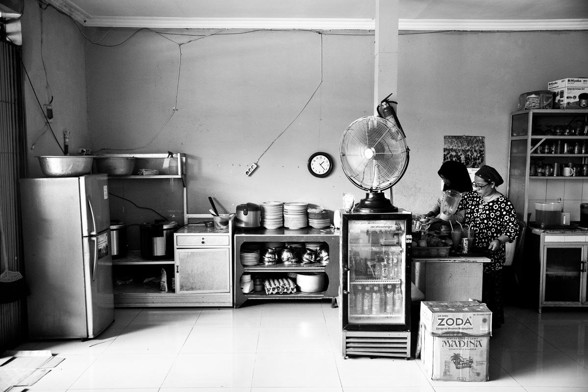 Keuken in restaurant