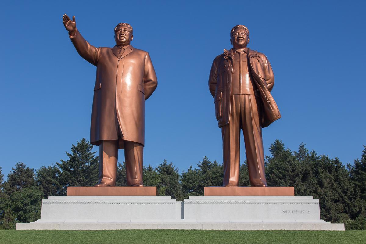 Kim Jong-il en Kim Il-sung in Hamhung