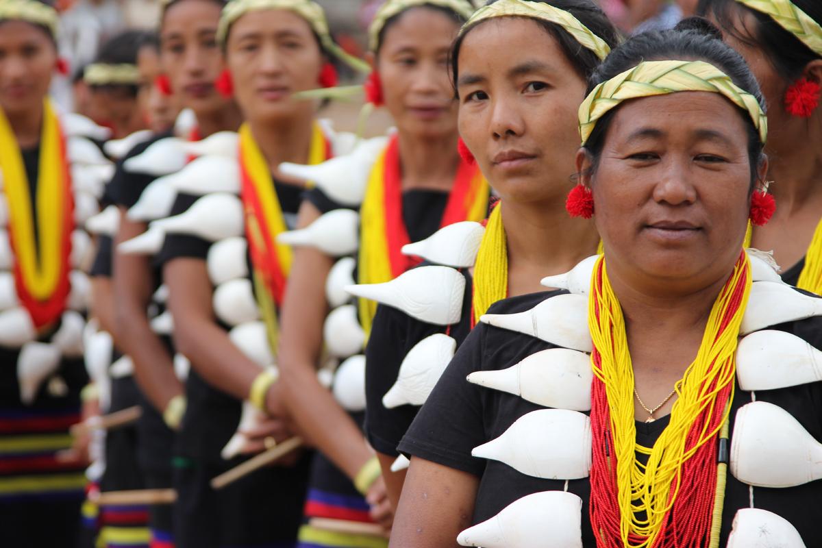 Konyak tijdens Aoling festival