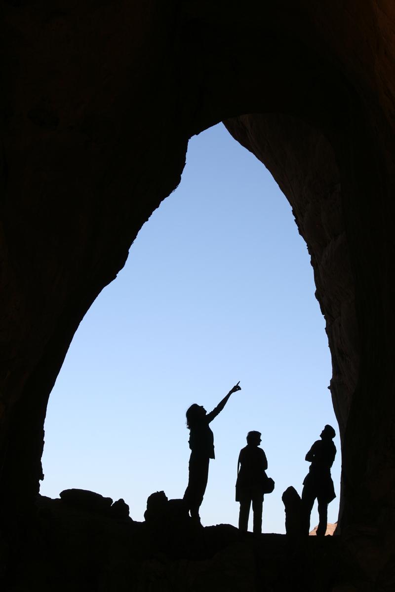 Rotstekeningen in het Hoggar gebergte in Algerije