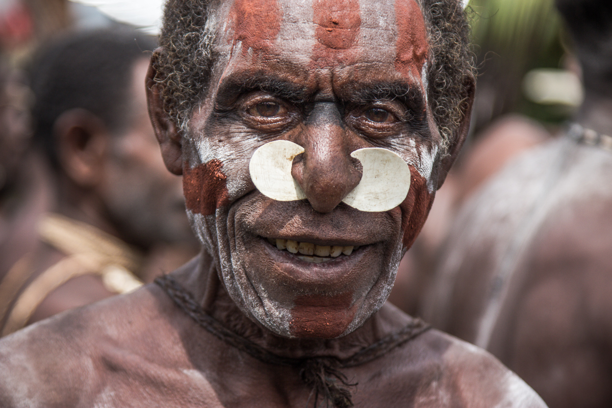 Asmat in Pirien op het eilland Papoea in Indonesië