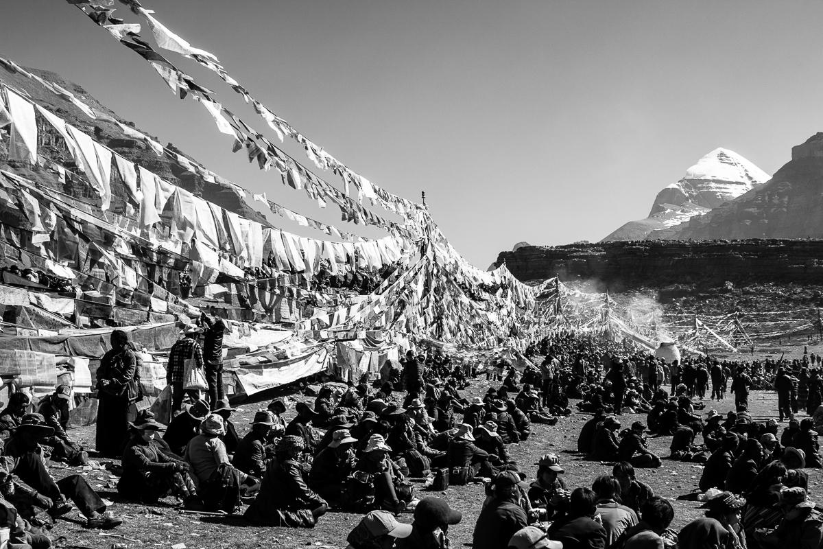Boeddhistisch festival in Tibet