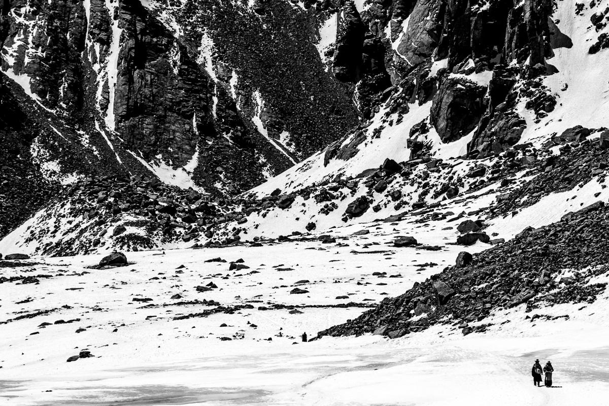 Pelgrims onderweg bij Mount Kailash