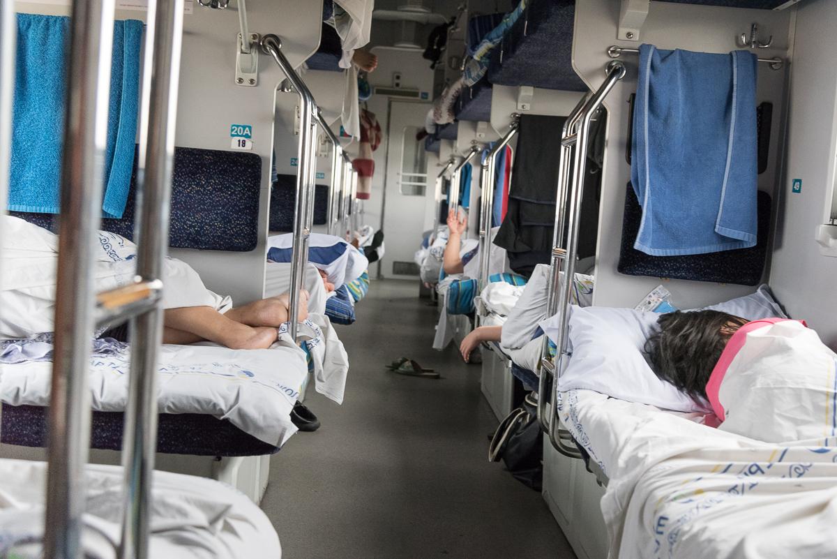 Derde klas moderne slaaptrein