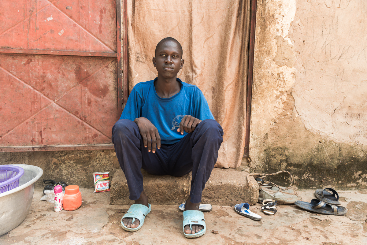 Abdou-Latif thuis in Tanguiéta