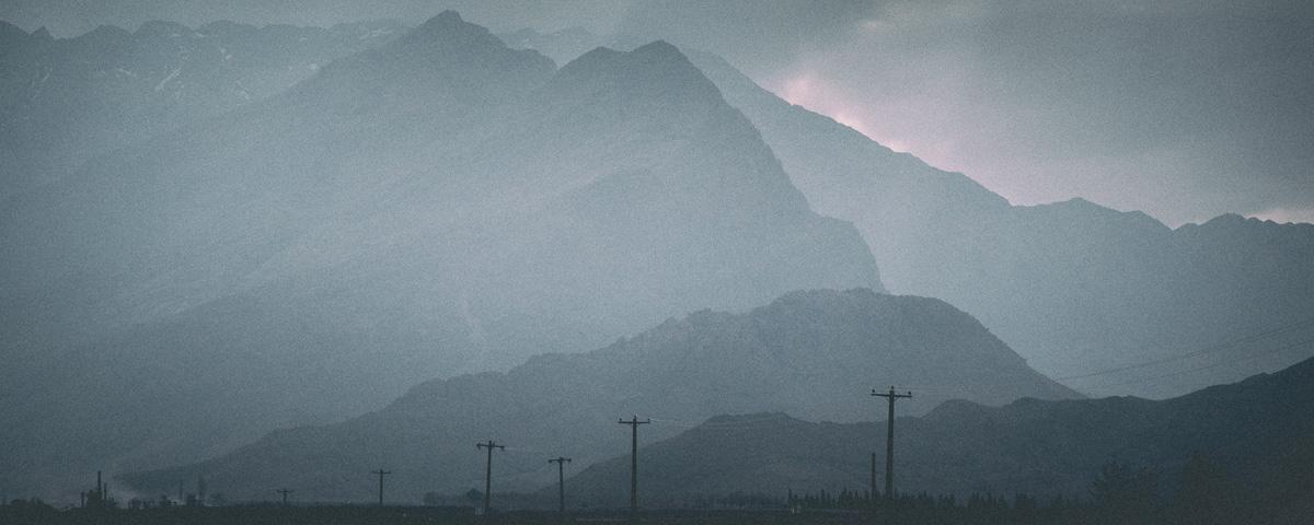 Uitzicht van Kerman richting Bam