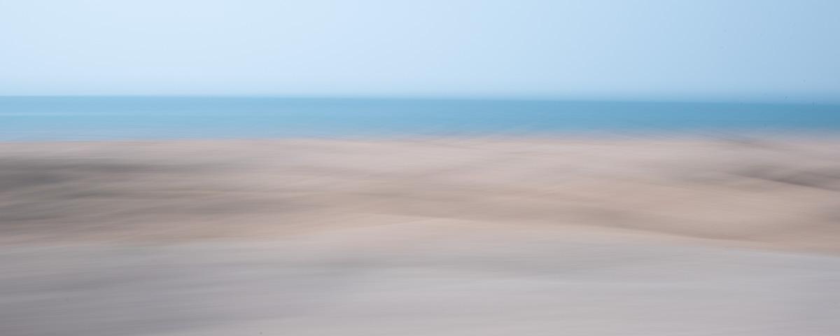 Uitzicht vanuit Qeshm-eiland op zee