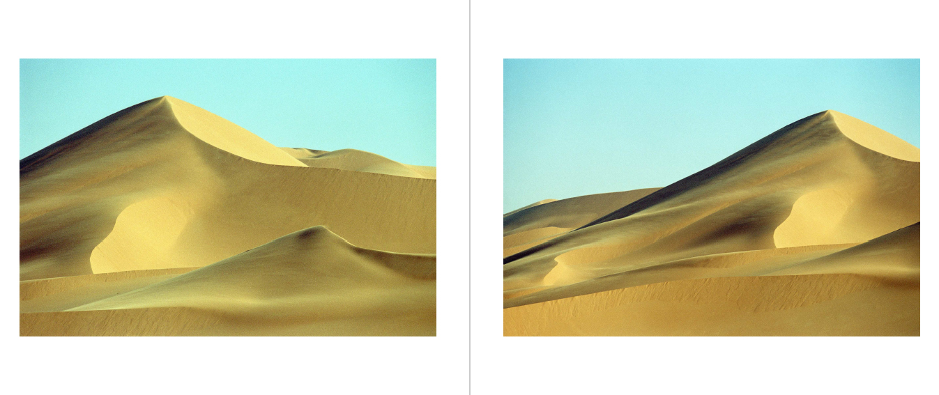 Zandduinen in Libië