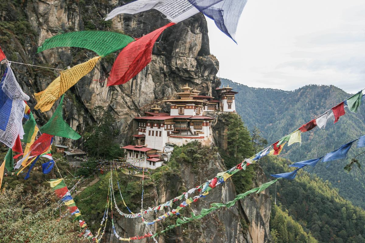 Taktshang klooster in Bhutan