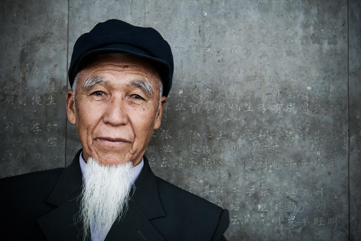 Man in Jianshui in China