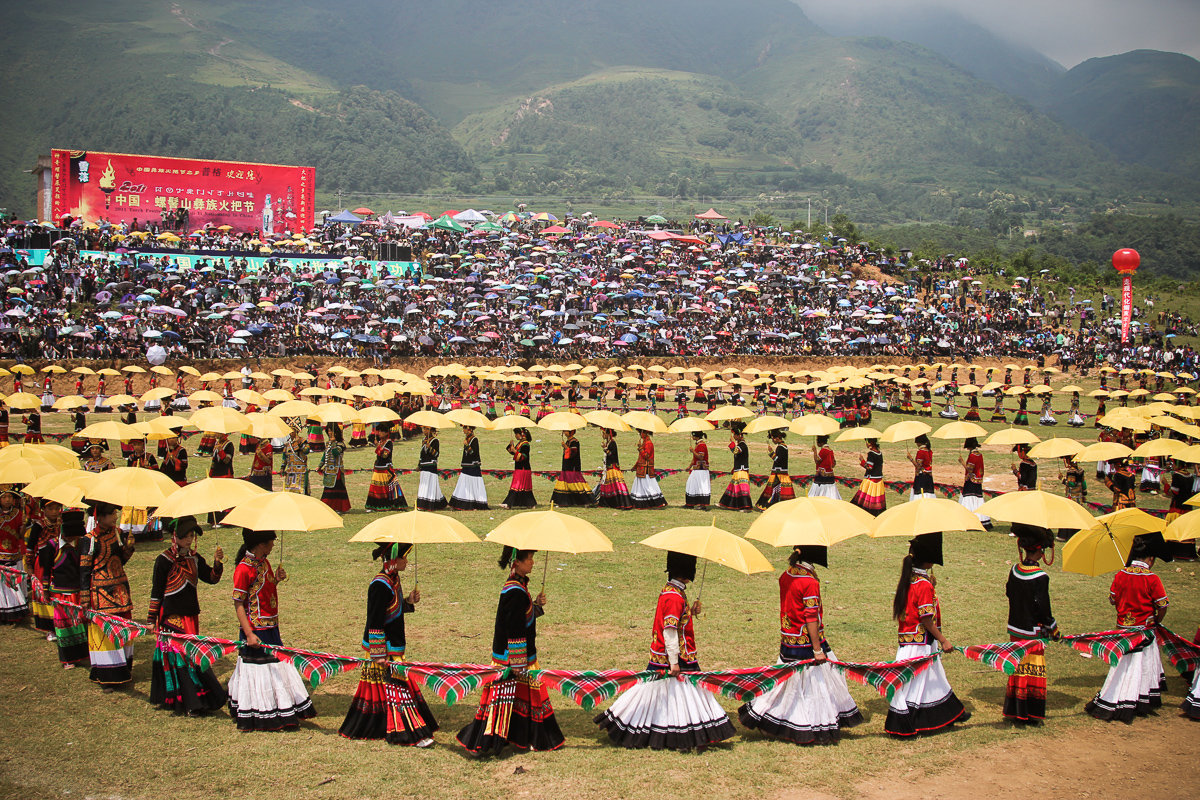 Torch festival van de Yi in China