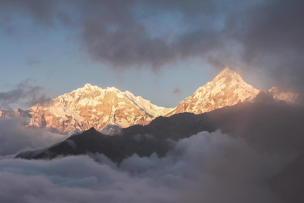 Uitzicht op Annapurna in Nepal