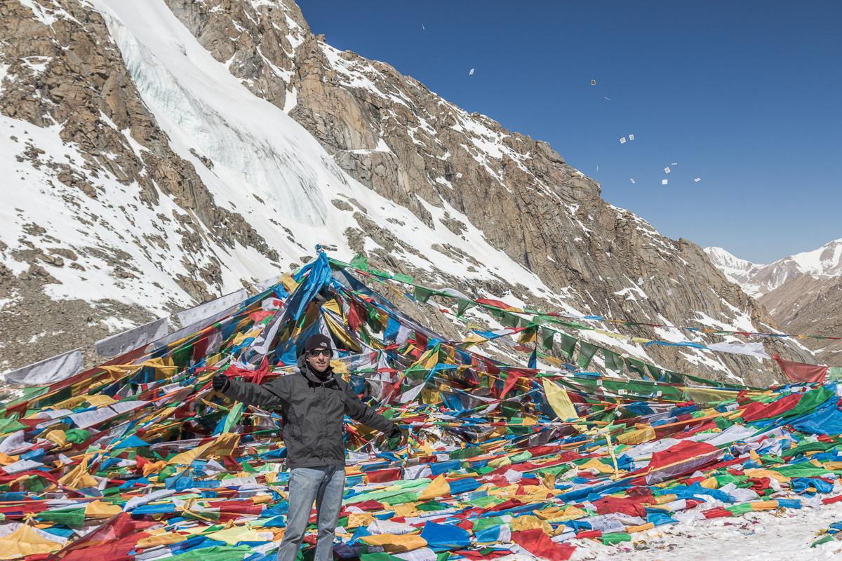 Boven op de Dolma La, de hoogste pas van Mount Kailash