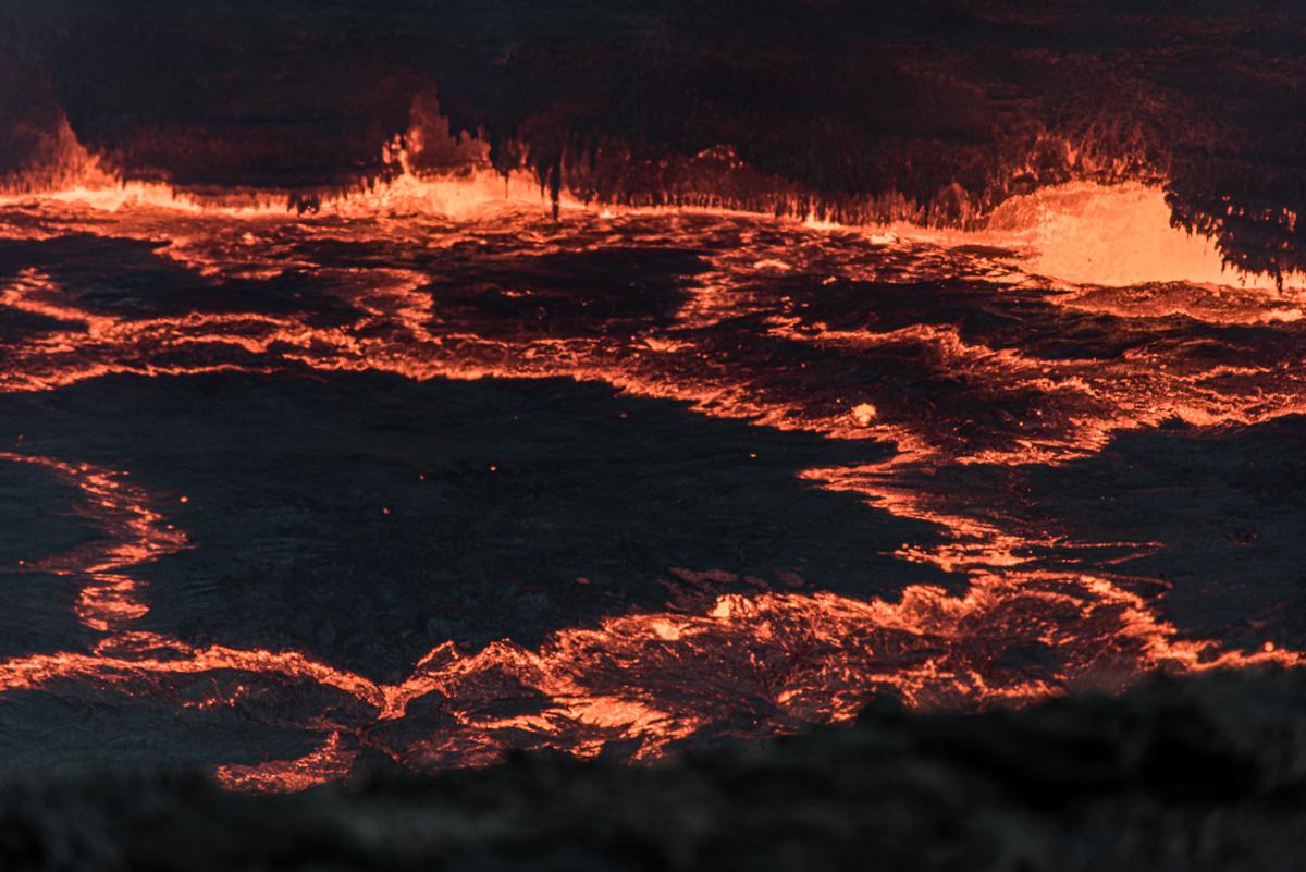 Lavameer van de vulkaan Erta Ale