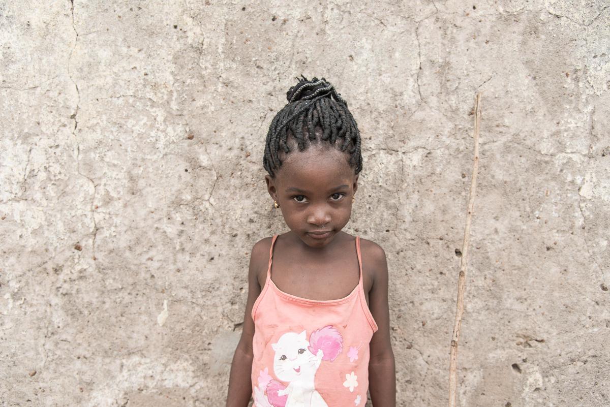 Meisje in Sindou in Burkina Faso