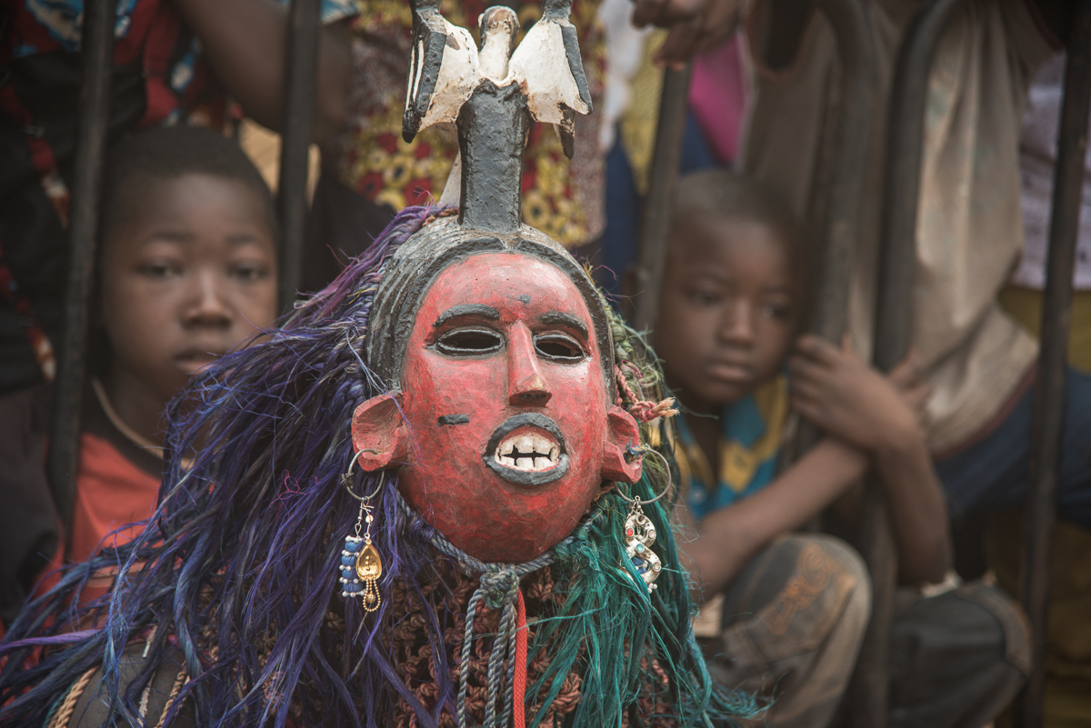 Masker uit Koin in Burkina Faso