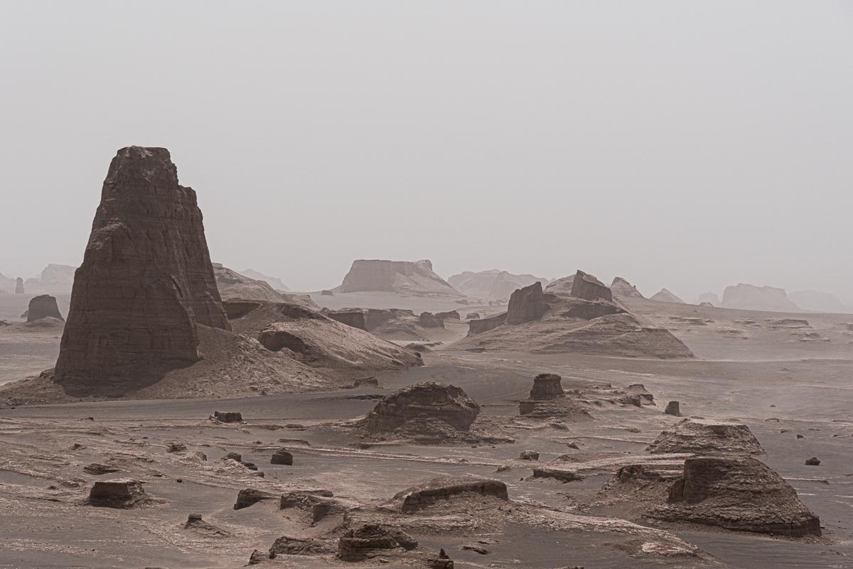 Zandkastelen in Dasht-e Lut