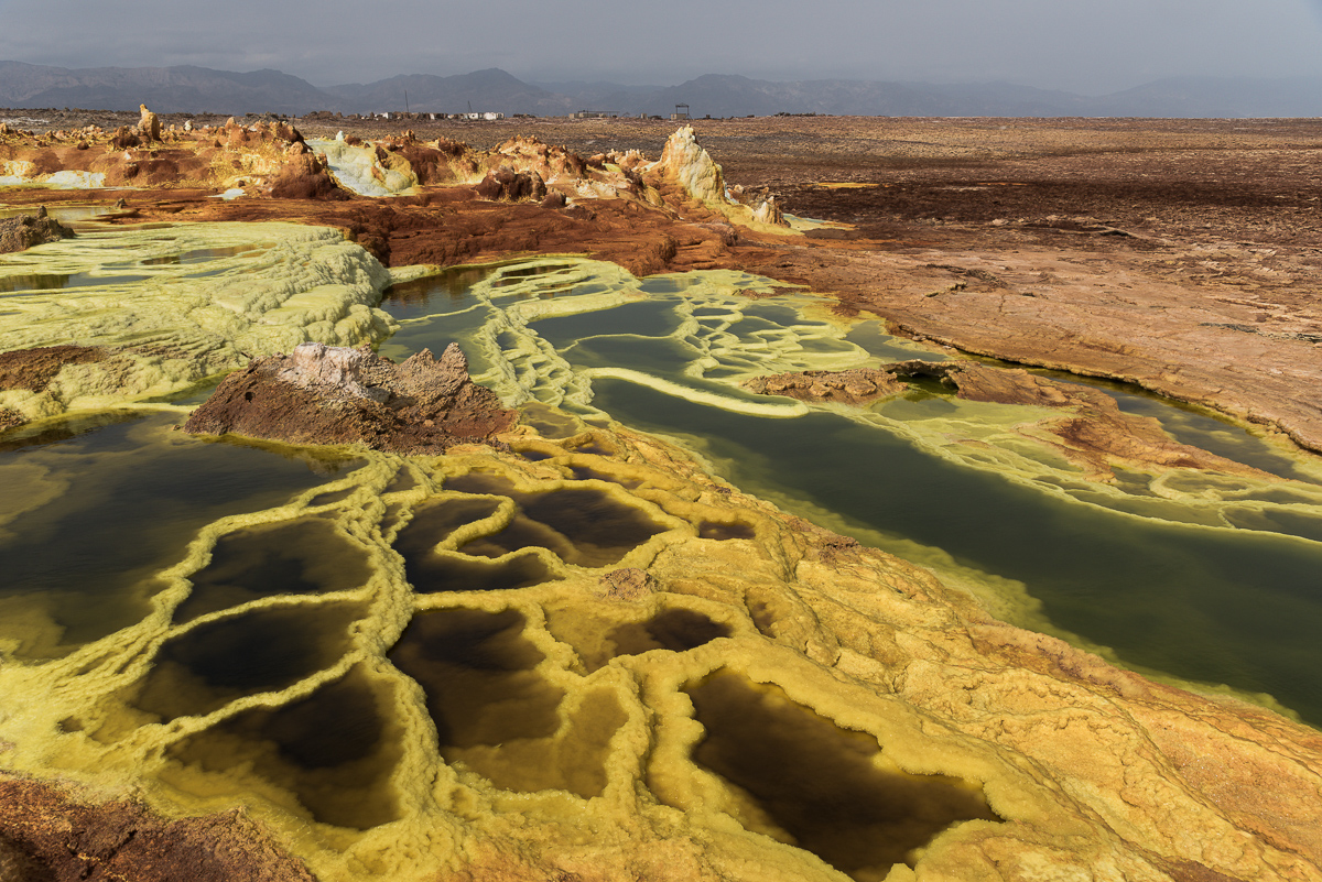 Vulkaan van Dallol in Ethiopië